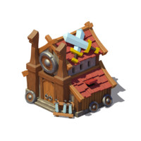 3d viking house model