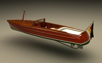 wooden tender mahogany 3d model