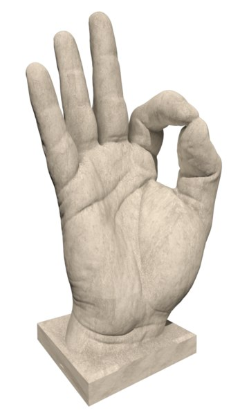 3d ok sculpture model