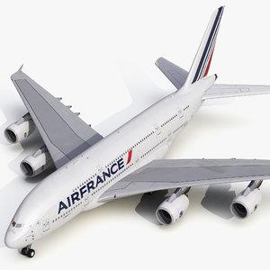 3d model airbus a380-800 air france