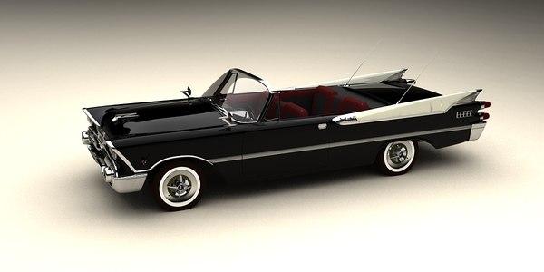 3d model dodge 1959 convertible
