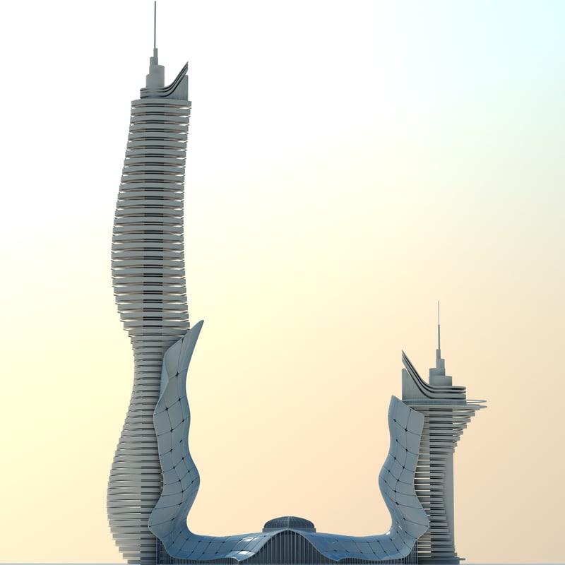 3d modern futuristic model