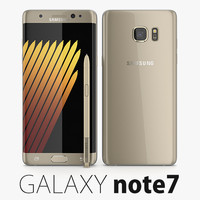 3d model samsung galaxy note 7
