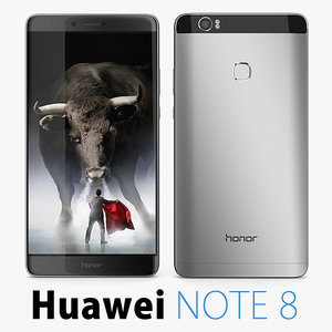 3d model huawei honor note 8