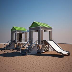 3d model house tree park