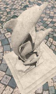 dolphin sculpture obj