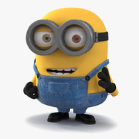 3d short eyed minion rigged