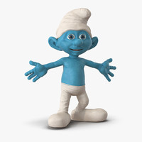 3d model smurf rigged