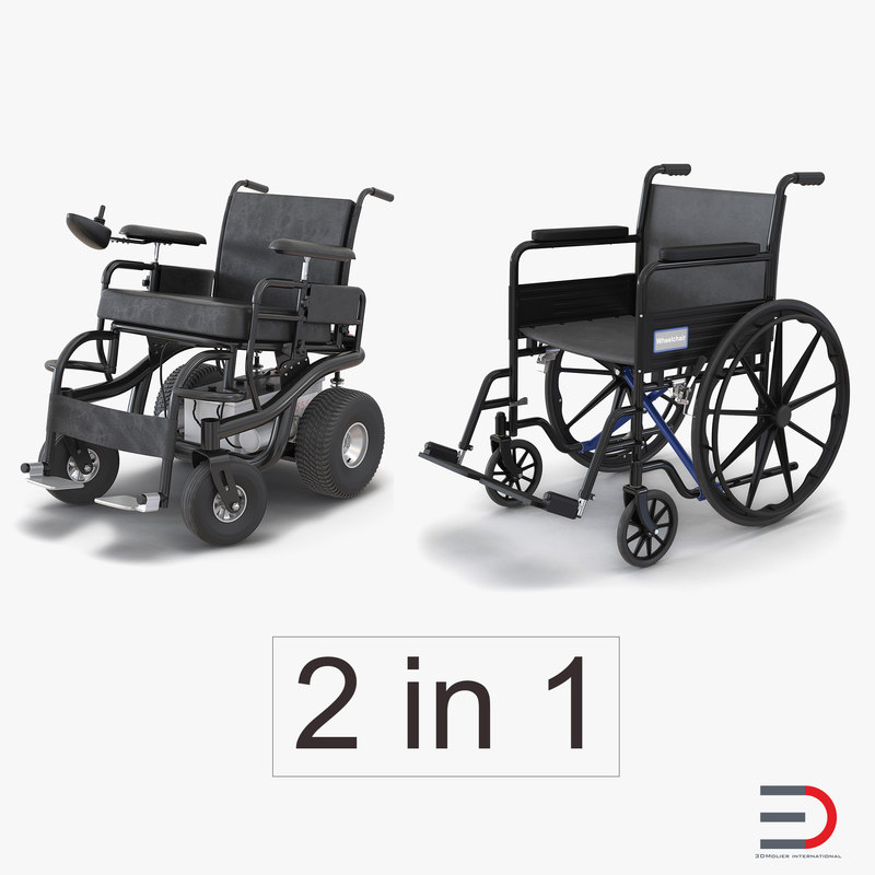 wheelchairs 2 3d max