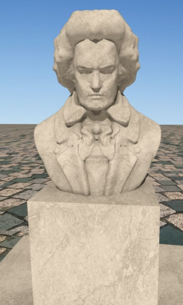 scientist sculpture 3d model