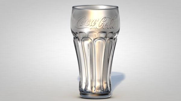 coca cola glass c4d