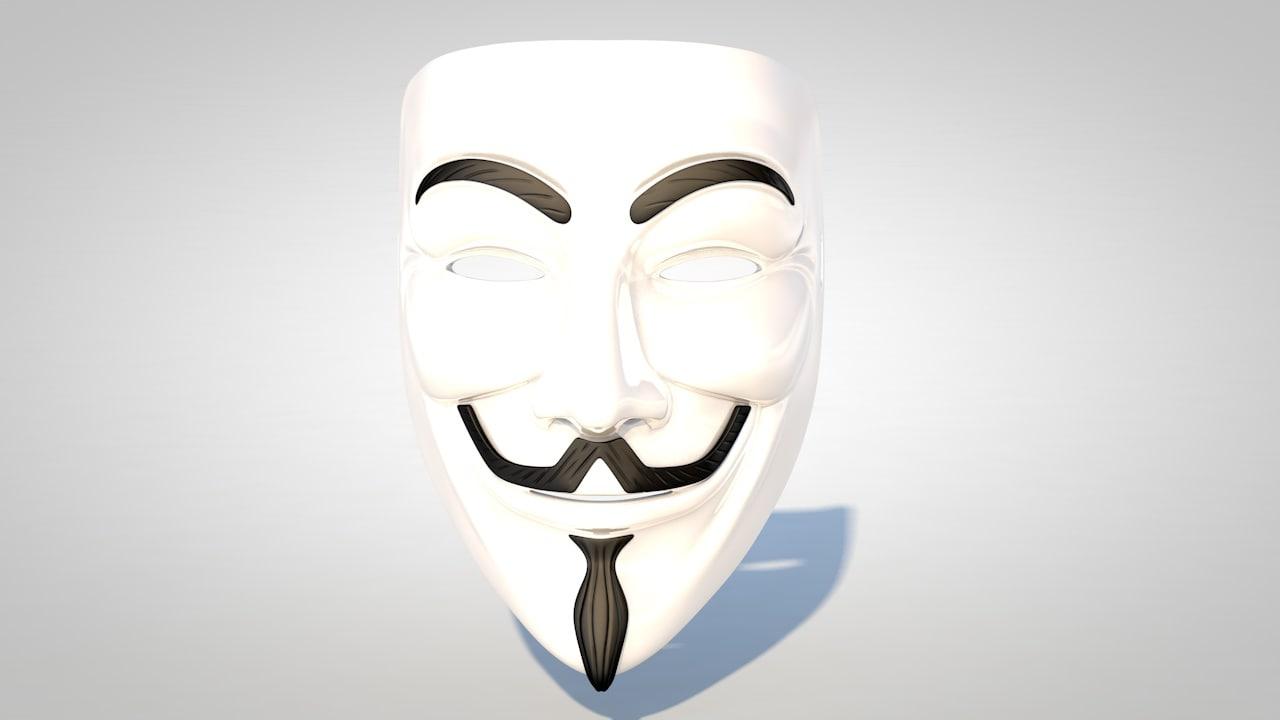 3d guy fawkes mask model