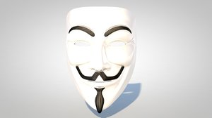 3d guy fawkes mask model