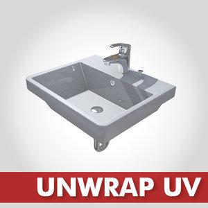 basin cl-339 faucet fl0302 3d model