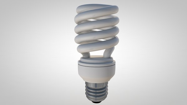 3d model fluorescent light bulb