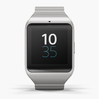 sony smartwatch 3 silver 3d model