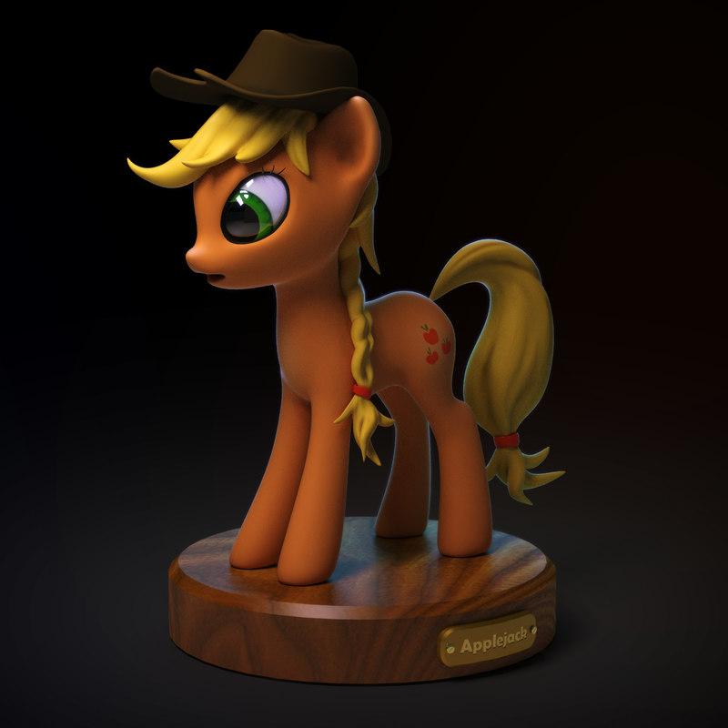 3d model little pony applejack