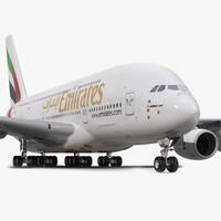3d airbus a380-800 emirates