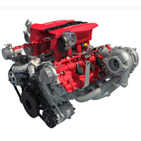 Ferrari 488 GTB Twin Turbocharged V8 Engine