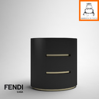 Groundhog 3D Models | Fendi Casa Asja bedside table