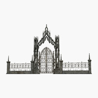 3d model gothic gate