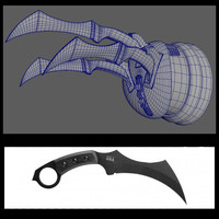 free karambit glove 3d model