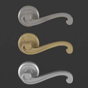 free door handle : po-int 3d model