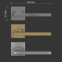 free door handle: frascio metro 3d model