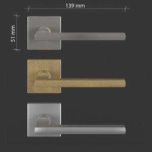 free door handle: frascio metro 3d model