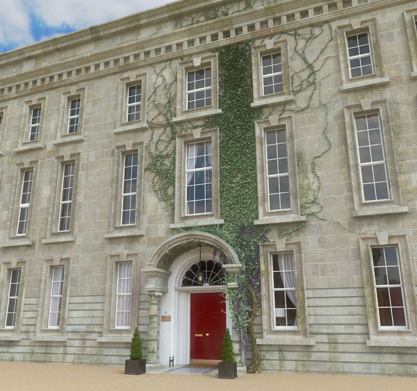 georgian manor house 3d obj