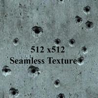 Concrete bulletholes Seamless