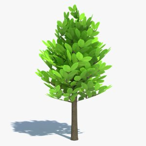 small cartoon tree 3ds