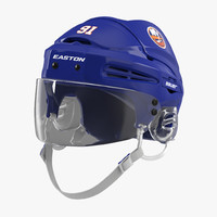 hockey helmet islanders 3d model