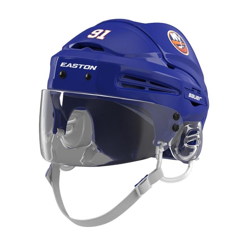 hockey helmet islanders 3d model