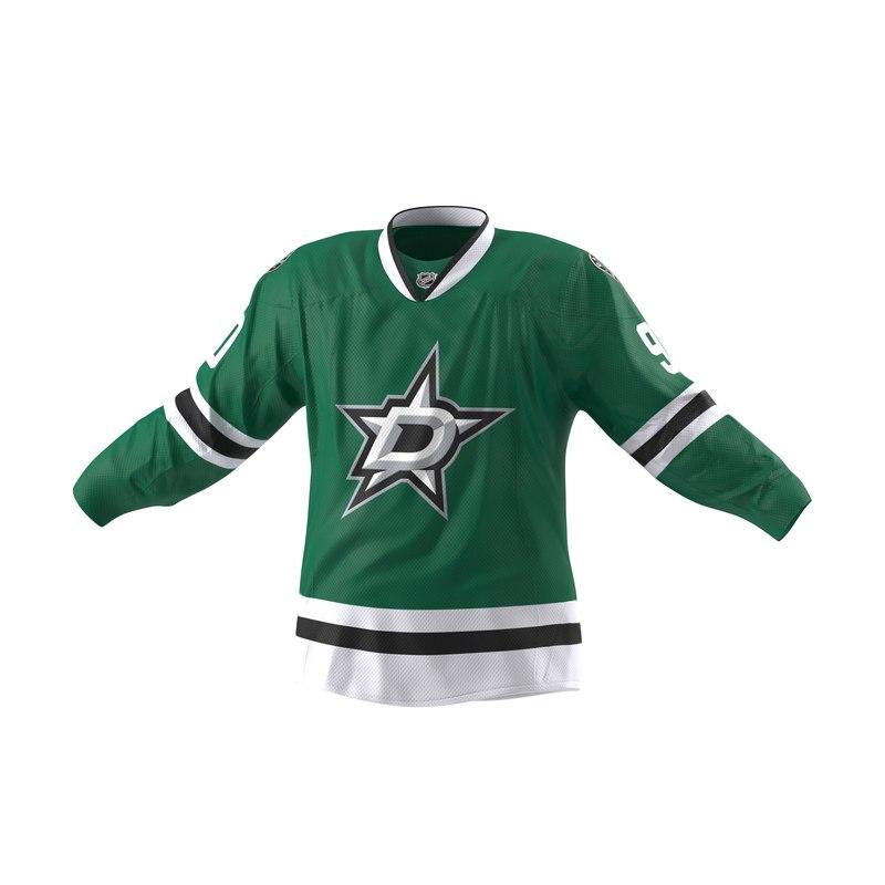 hockey jersey dallas stars 3d max