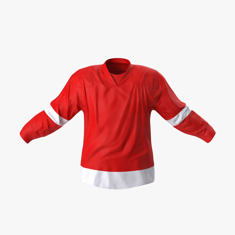 3d model hockey jersey generic 2