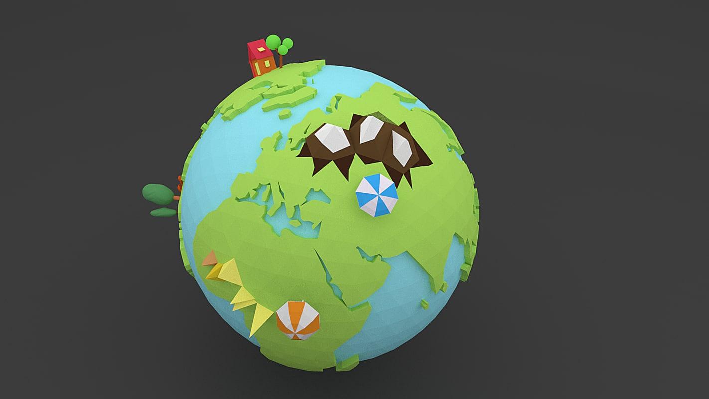 3d blend earth