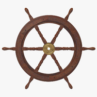 ship s wheel 3d obj
