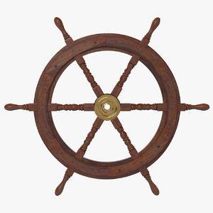 ship s wheel 3d obj