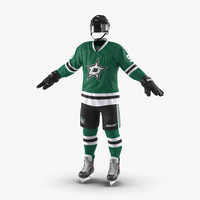 hockey equipment dallas stars 3d model