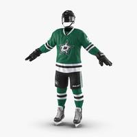 hockey equipment dallas stars 3d model