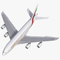 Airbus A380-800 Emirates Rigged