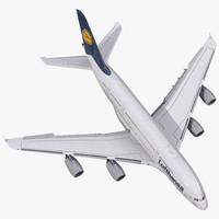 airbus a380-800 lufthansa rigged max