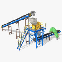 3d conveyor pulley crusher