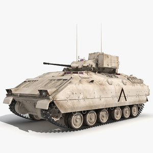 infantry fighting vehicle bradley m2 3d model
