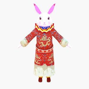 god rabbit wealth 3d max