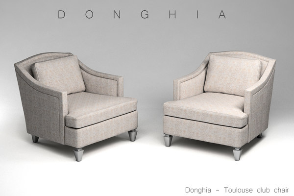 donghia toulouse club chair 3d 3ds