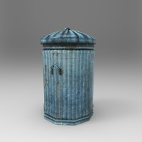 3d model bin dustbin