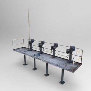 standing platform prop 3d model