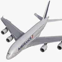 Airbus A380-800 Air France Rigged